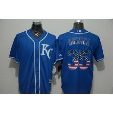 2016 MLB FLEXBASE Kansas City Royals 35 Hosmer blue jersey