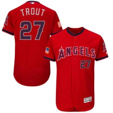 2016 MLB FLEXBASE Los Angeles Angels 27 Trout Red Fashion Jerseys