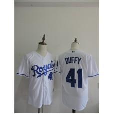 2016 MLB FLEXBASE Los Angeles Dodgers 41 Duffy White Jerseys