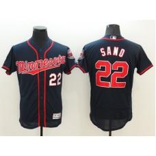 2016 MLB FLEXBASE Minnesota Twins 22 Sano Blue Jerseys