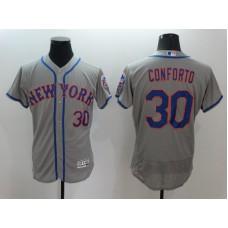 2016 MLB FLEXBASE New York Mets 30 Conforto Grey Jersey