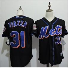 2016 MLB FLEXBASE New York Mets 31 Piazza Black Jerseys