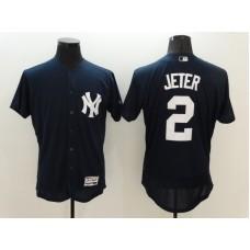 2016 MLB FLEXBASE New York Yankees  2 Derek Jeter Blue Jersey