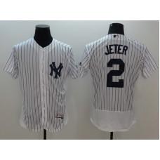 2016 MLB FLEXBASE New York Yankees 2 Jeter white jerseys