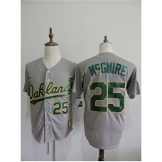 2016 MLB FLEXBASE Oakland Athletics 25 Mcgwire Grey Jerseys