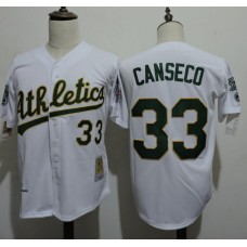 2016 MLB FLEXBASE Oakland Athletics 33 Canseco White Jerseys