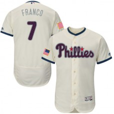 2016 MLB FLEXBASE Philadelphia Phillies 7 Franco Gream Fashion Jerseys