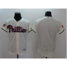 2016 MLB FLEXBASE Philadelphia Phillies Blank Cream Fashion Jerseys