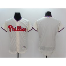 2016 MLB FLEXBASE Philadelphia Phillies Blank White Jersey