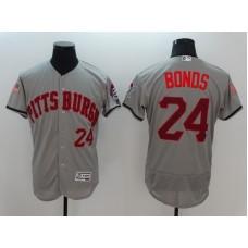 2016 MLB FLEXBASE Pittsburgh Pirates 24 Bonds Grey Fashion Jerseys