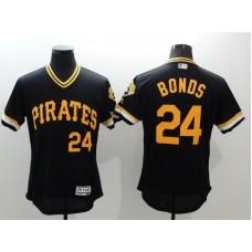 2016 MLB FLEXBASE Pittsburgh Pirates 24 Bonds black jerseys