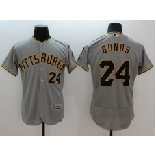2016 MLB FLEXBASE Pittsburgh Pirates 24 Bonds grey jerseys