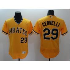 2016 MLB FLEXBASE Pittsburgh Pirates 29 Cervelli Orange Jersey