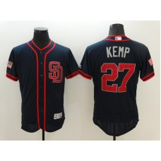 2016 MLB FLEXBASE San Diego Padres 27 Kemp Drak Blue1 Fashion Jerseys