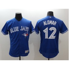 2016 MLB FLEXBASE Toronto Blue Jays 12 Alomar Blue Jerseys