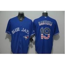 2016 MLB FLEXBASE Toronto Blue Jays 19 Bautista blue jersey