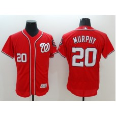 2016 MLB FLEXBASE Washington Nationals 20 Murphy Red Jerseys
