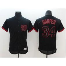 2016 MLB FLEXBASE Washington Nationals 34 Harper black Jerseys