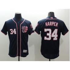 2016 MLB FLEXBASE Washington Nationals 34 Harper blue jerseys