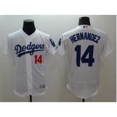 2016 MLB Los Angeles Dodgers 14 Hernandez White Elite Fashion Jerseys