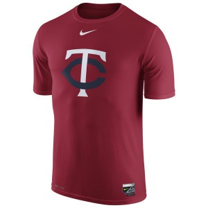 2016 MLB Minnesota Twins Nike Authentic Collection Legend Logo 1.5 Performance T-Shirt - Red