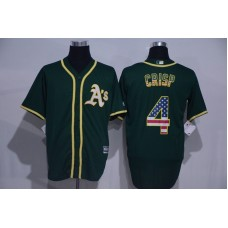 2016 MLB Oakland Athletics 4 Grisp Green USA Flag Fashion Jerseys