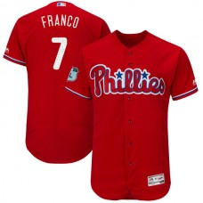 2017 MLB Philadelphia Phillies 7 Franco Red Jerseys