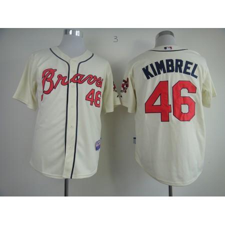 MLB Atlanta Braves 46 Craig Kimbrel Gream Jerseys