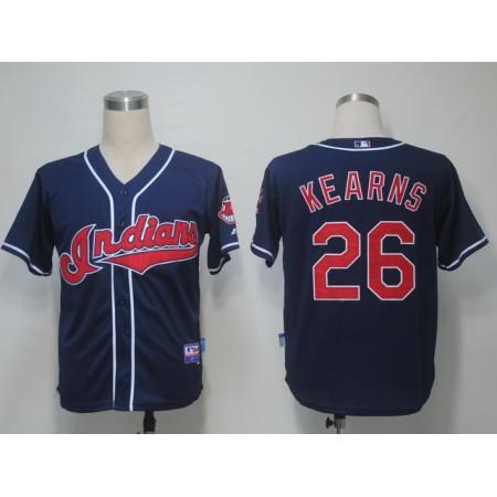 MLB Cleveland Indians 26 Kearns Blue Jerseys