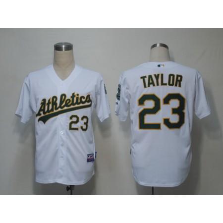 MLB Oakland Athletics 23 Taylor White Jerseys