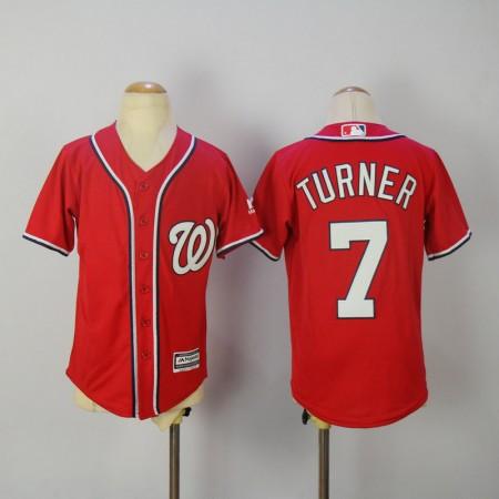 Youth 2017 MLB Washington Nationals 7 Turner Red Jerseys