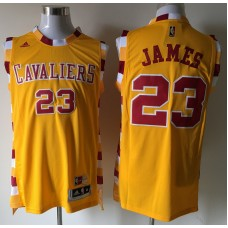 2016 NBA Cleveland Cavaliers 23 James yellow Jerseys