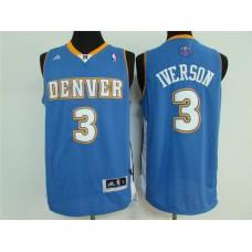 2016 NBA Denver Nuggets 3 Iverson sky blue jersey