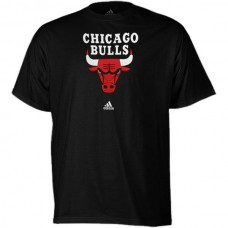 2016 NBA adidas Chicago Bulls Primary Logo T-Shirt - Black
