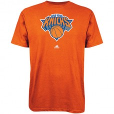 2016 NBA adidas New York Knicks Primary Logo T-Shirt - Royal Blue