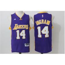2016 NBA los angeles lakers 14 Ingram Purple Jerseys