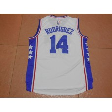 2017 NBA Philadelphia 76ers 14 Rodriguez white jerseys