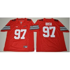 2015 Ohio State Buckeyes Joey Bosa 97 Diamond Quest College Football Red Jersey