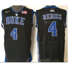 2016 NBA NCAA Duke Blue Devils 4 Redick Black Jerseys