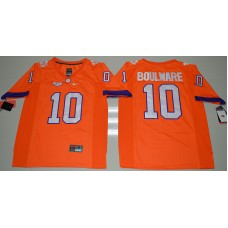 2016 NCAA Clemson Tigers 10 Ben Boulware Orange College Football Limited Jersey