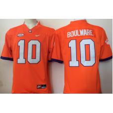 2016 NCAA Clemson Tigers 10 Boulware Orange Jerseys