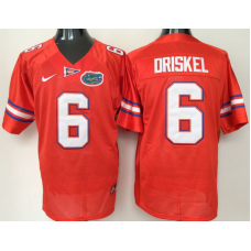 2016 NCAA Florida Gators 6 Driskel Orange Jerseys