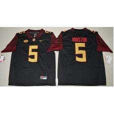 2016 NCAA Florida State Seminoles 5 Jameis Winston Black College Football Limited Jersey