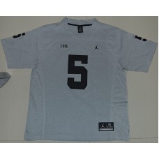 2016 NCAA Heather Gray Michigan Wolverines 5 Jabrill Peppers Gridiron Gray II College Football Limited Jerseys