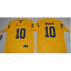 2016 NCAA Jordan Brand Michigan Wolverines 10 Tom Brady Yellow College Football Limited Jersey