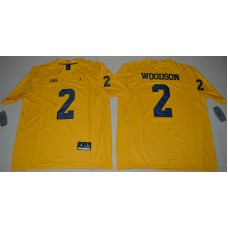 2016 NCAA Jordan Brand Michigan Wolverines 2 Charles Woodson Yellow College Football Limited Jersey