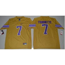 2016 NCAA LSU Tigers 7 Leonard Fournette Gridiron Gold College Football Limited Legend Jersey