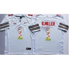 2016 NCAA Ohio State Buckeyes 1 B.Miller White Fashion Edition Jerseys1
