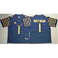 2016 NCAA Oregon Ducks Spring Game 1 Mighty Oregon Navy Blue Weebfoot 100th Rose Bowl Game Elite Jersey