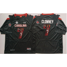 2016 NCAA South Carolina Gamecock 7 Clowney Black Fashion Edition Jerseys